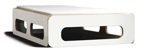 Designer bett 140x200  Bett weiss 140x200, Bett Multiplex, Designbett, Bett massiv