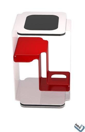 designer beistelltisch rot in verschiedenen gr en. Black Bedroom Furniture Sets. Home Design Ideas